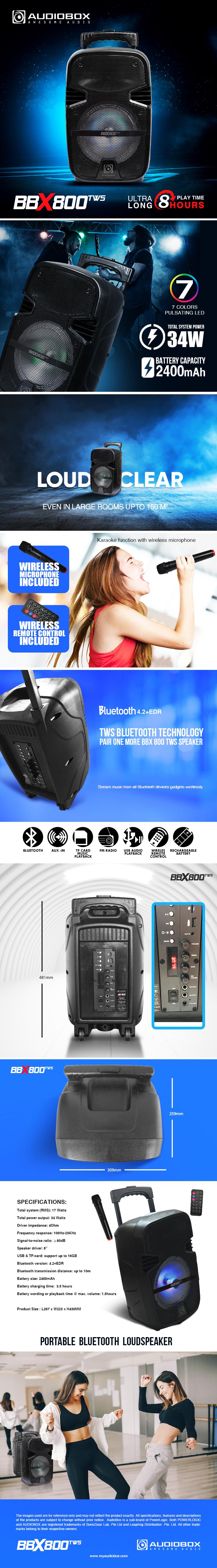 AudioBox BBX800 TWS